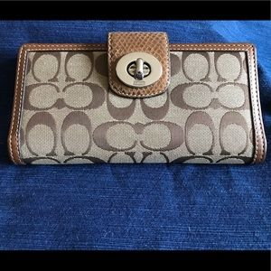 Brown/Tan Coach Wallet